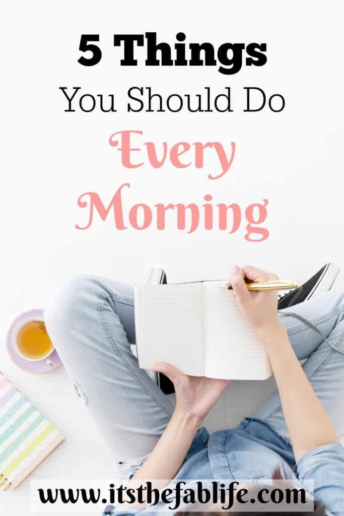 5 Things You Should Do Every Morning | Morning Ritual | Morning Routine | #mornings #productivity