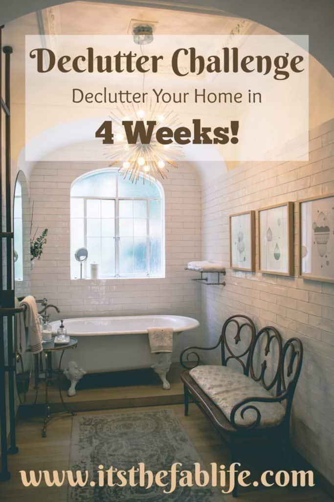 4-Week Declutter Challenge   Declutter Your Home in 4 Weeks   #organization #cleaning #decluttering #organize #clean #declutter #homemanagement